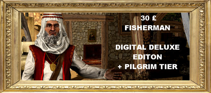 Get yourself a full digital package of the game including a digital copy of the game, a digital soundtrack and a digital art book. Plus includes all rewards in the Pilgrim tier.