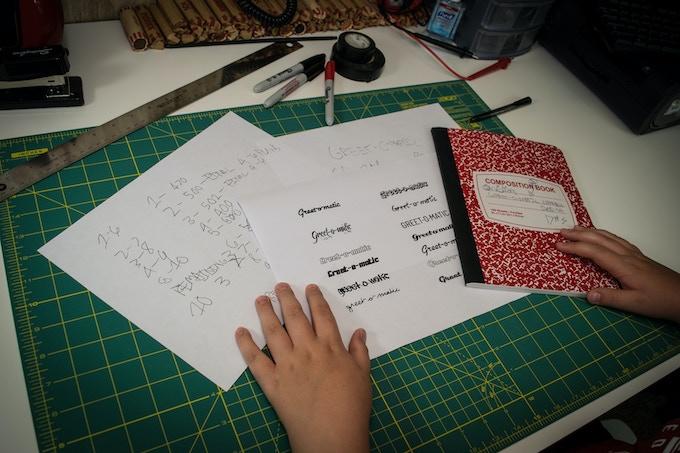 Font selection process.