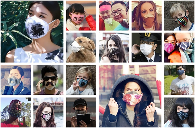 Masked People from all over the world