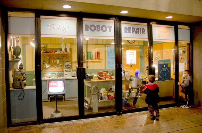 The Robot Repair shop in Downtown
