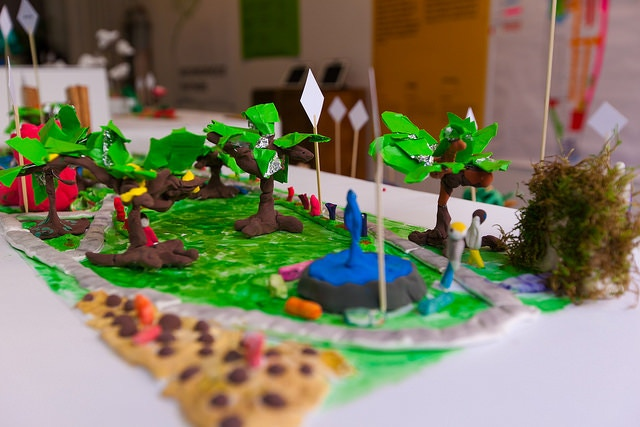 A 3D model from our Young Designers Program on display in March 2015