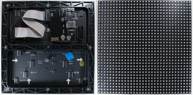 Front and back view of LED panel in the Minimal Kit