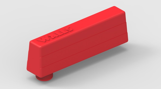 This is a 3D rendering of the walls. These will be a durable plastic (injection molded).