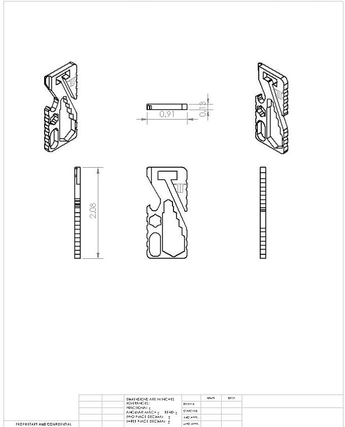 EDC Titanium Keychain Tool by Ruben Carrillo —Kickstarter