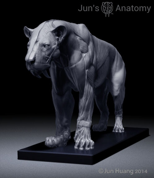 Smilodon Populator with default Mouth-Closed head.