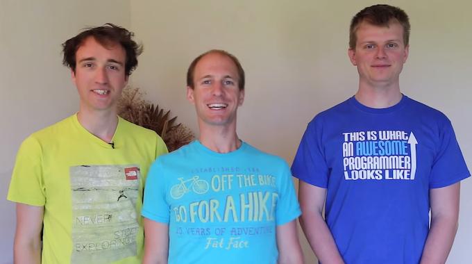 Richard, Lewis and Peter: Team Globe.