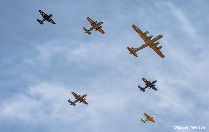 What we do: the CAF recently organized a flyover of 56 World War II airplanes over Washington DC to mark the 70th anniversary of VE Day.