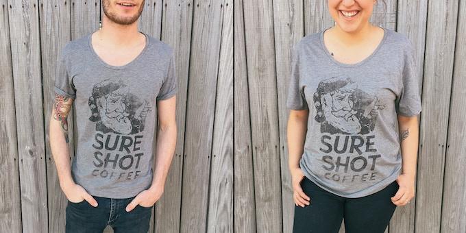 Sure Shot Coffee - Wide Neck T-shirt