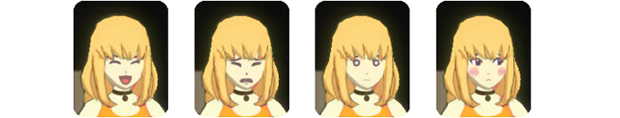 Currently, several motions and 2D icons are the only elements that have been developed to show A.I.'s emotions in TGL. In the future we would like to add more facial expressions that represent A.I.'s emotions.