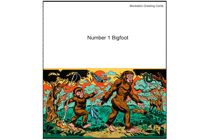Awesome Bigfoot Greating Card !