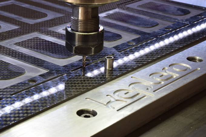 Each part of Keplero is precision milled from a single block of carbon fiber.