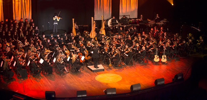 The Summer Pops Young Artists Symphony, conducted by Maestro Jung-Ho Pak