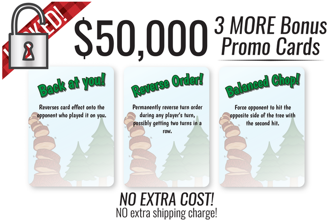 This makes 16 cards TOTAL! That's right, anyone pledging the extra $1 for the 7 Bonus cards will ALSO get all extra Bonus Cards at no extra cost!