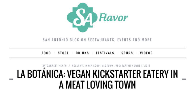 SA FLAVOR blogs about La Botanica and Kickstarter Campaign
