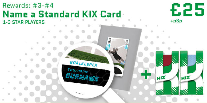 Name a standard 1-3 stripe KIX card