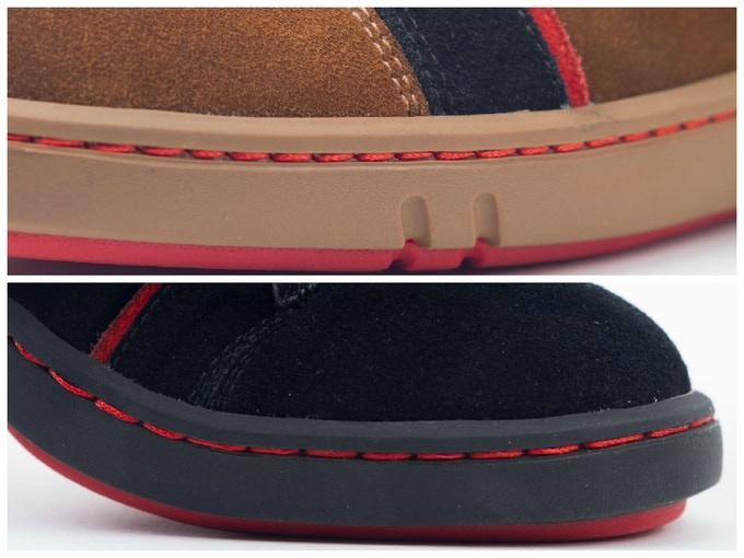 First Class Red Stitches add to the design as well as the durability