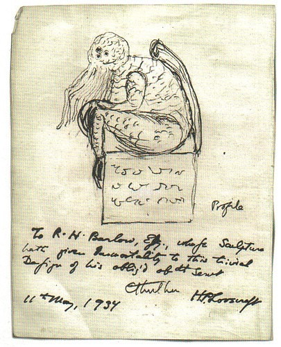 Lovecraft's depiction of Cthulhu.