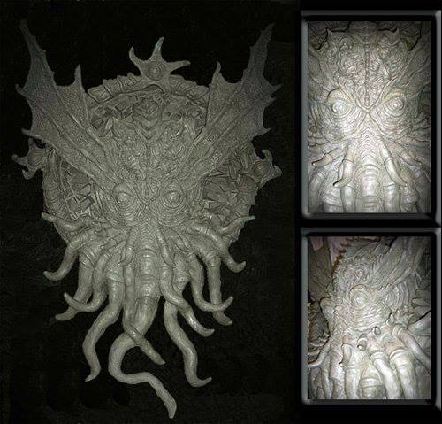 Shrine Of Lovecraft S Cthulhu Wall Sculpture Monster