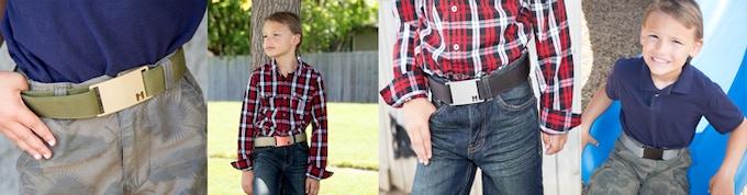 The belt adjusts as your child gets older