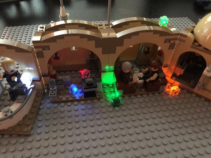 LEGO® Set Shown Using (6) Lit Brix from i-Brix