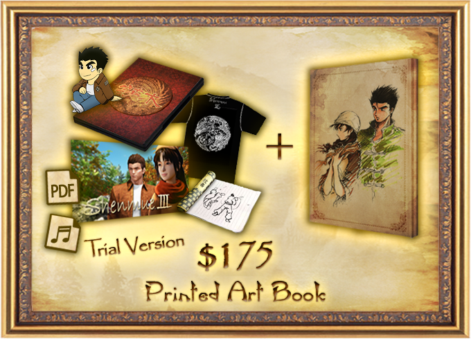 Shenmue 3 by ys net kickstarter printed artbook curated by yu suzuki fandeluxe Image collections