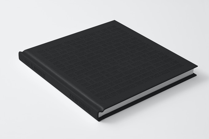 This Is Nowhere - Black debossed text on black clothbound hardback cover