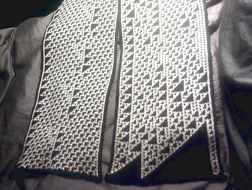 Knityak Custom Mathematical Knit Scarves By Fabienne Fbz Serriere