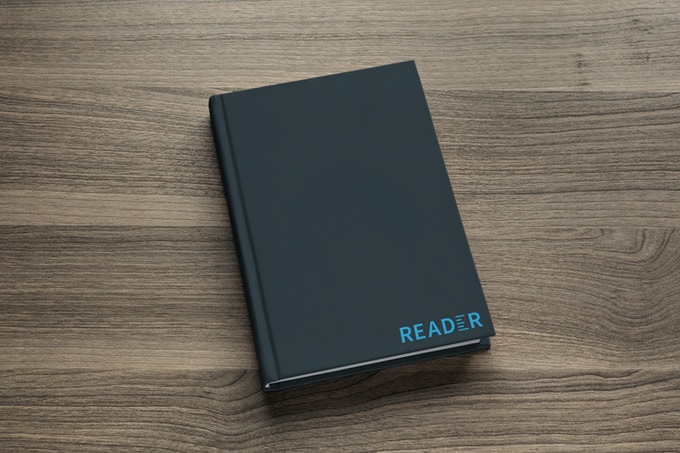 The lab notebook will be hardback, water resistant and have several logo options