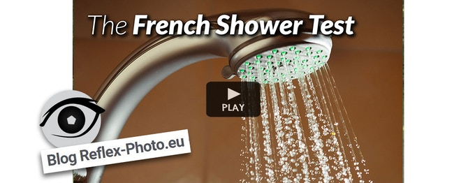 """See how the miggo AGUA  handles a brutal shower test done by """"Blog Reflex-Photo"""", France."""