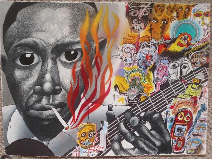 Scott Kraynak (Robert Johnson, Basquiat mash-up)