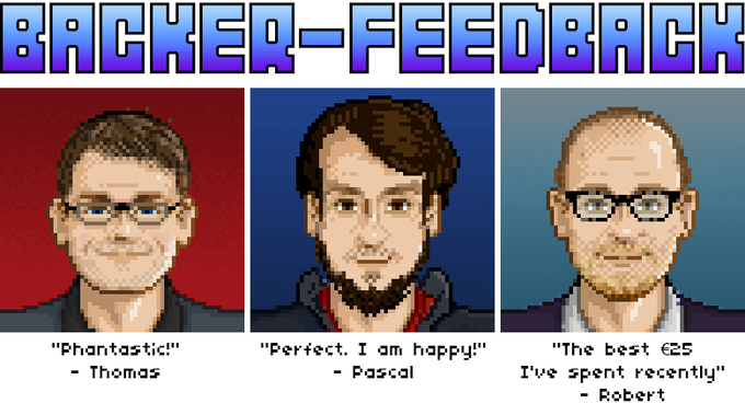 First feedback from the backers I already pixeled