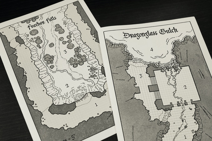 Work-in-progress for 2 of the maps in the adventure
