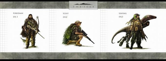 Ranger concept with dinosaur companions