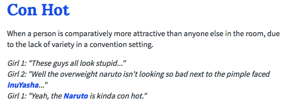 The Urban Dictionary's definition of CON HOT™
