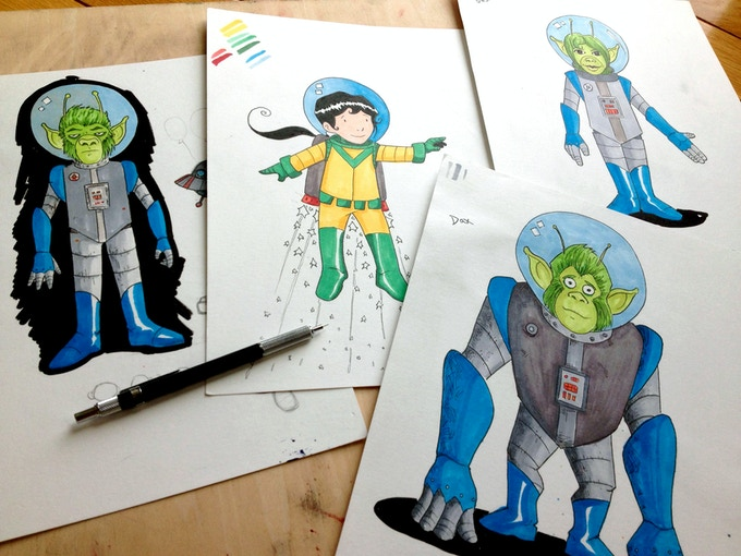 Character Design Questions : Little maia and the lunar express by robert geronimo