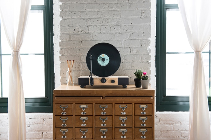 Floating Record Vertical Turntable By Gramovox Kickstarter