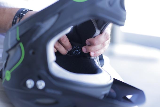 Die - Cut Velcro Mount in Full - Face Helmet