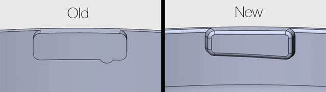 Rendering of Handground top cap locking method