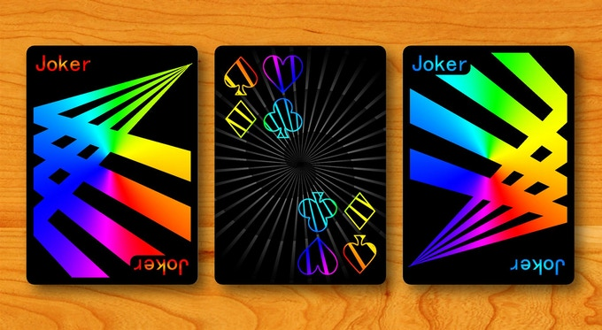 Jokers and card back design of Prism: Night