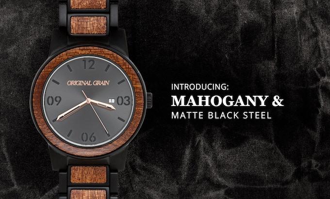 Mahogany + Matte Black