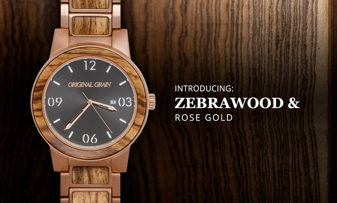 Zebrawood + Brushed Rosegold