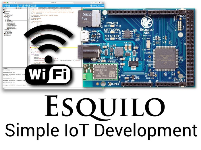 A development platform with built-in Wi-Fi, web IDE, cloud access, Arduino shield, and more that makes creating IoT devices simple.