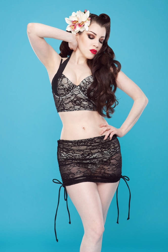 At the very top of our stretch goals is this lace bikini.