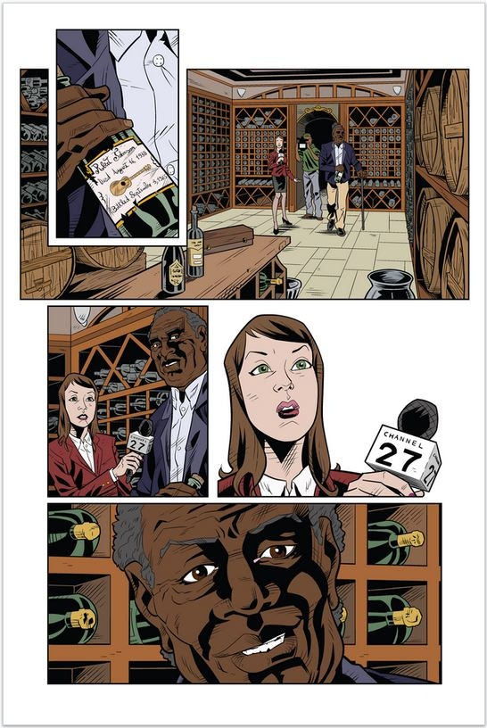 Erica Schultz, Nicholas Raimo and Sara King (color page from A Seminal Vintage)