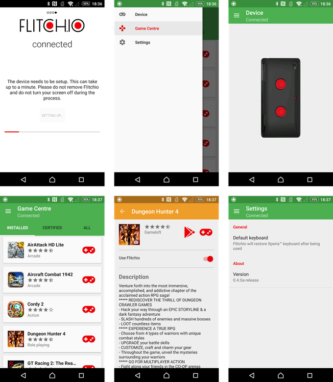 Overview of the app