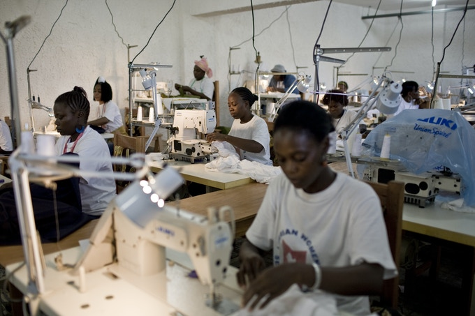 Africa's first fair-trade factory, owned and operated by Liberty & Justice.