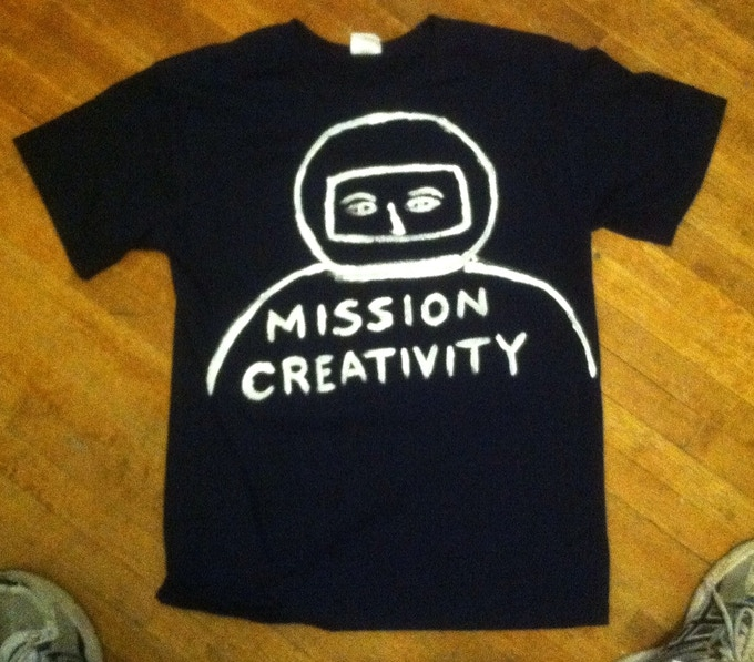 """$30 Official """"Mission Creativity"""" hand painted T-shirt"""