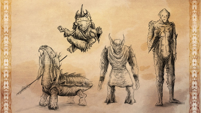 the xarui, tiatok, M'kecht giants and the uunne