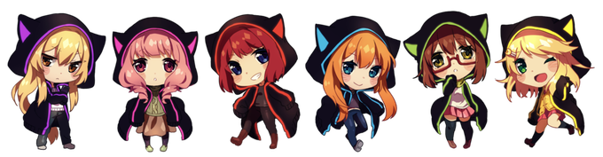 Designs for the keychains, by Rosuuri
