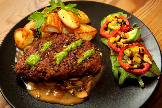 Argentinian-Inspired Seitan Beef with Chimichurri